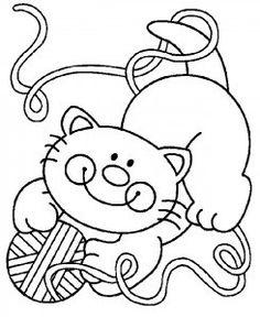 Dibujos infantiles para colorear de animales domesticos.