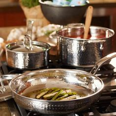 Lagostina Martellata Hammered Stainless Steel Cookware Set, 10 Piece   Chef's Corner Store