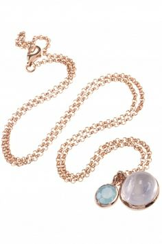 a #gemstone #necklace that adds just the right amount of color to any ensemble I NEWONE-SHOP.COM