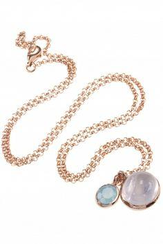 rose gold plated gemstone #necklace I designed for NEW ONE I NEWONE-SHOP.COM