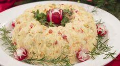 Πατατοσαλάτα γιορτινή σε φόρμα | Συνταγές - Sintayes.gr Mashed Potatoes, Grains, Salads, Rice, Ethnic Recipes, Food, Whipped Potatoes, Smash Potatoes, Essen