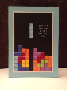 Customizable Tetris-themed card