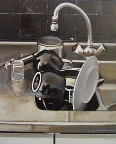 Alain Pontecorvo, a native and resident of France has been a professional artist since he sold his first painting in 1960 as a st. Everyday Items, Everyday Objects, Painting Inspiration, Art Inspo, Everyday Activities, Ppr, A Level Art, Painting Still Life, Gcse Art