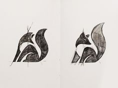 more foxes. My art direction, @vakho sketches.