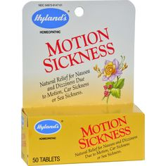 Hyland's Motion Sickness Description: - Natural Relief for Nausea and Dizziness Due to Motion, Car Sickness or Sea Sickness Hyland's Motion Sickness is a traditional homeopathic formula for the relief Stomach Nausea, Symptoms Of Nausea, Motion Sickness, Flu Remedies, Natural Remedies, Star Wars, Good Manufacturing Practice, In Case Of Emergency, Natural Healing