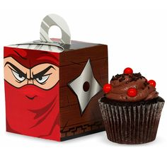 NInja Theme Cup Cake Containers