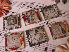 """""""Inchie Love, Make Me Inchies: Receiver's Choice"""" (Music theme) Dyi Crafts, Arts And Crafts, Paper Crafts, Tambour, Scrabble Tile Jewelry, Domino Art, Art Trading Cards, Badge Creator, Thing 1"""