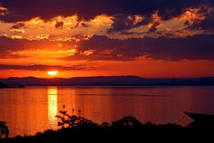 sunset over Lake Victoria, Uganda. i miss this.