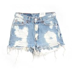 Pre-owned Furst of a Kind Denim Shorts Size 5: Blue Junior Bottoms ($27) ❤ liked on Polyvore featuring shorts, blue, denim short shorts, jean shorts, blue denim shorts, blue shorts and denim shorts