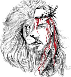 Photo credits to the owner . Jesus Wallpaper, Lion Wallpaper, Lion Pictures, Jesus Pictures, Osiris Tattoo, Christus Tattoo, Jesus Drawings, Bibel Journal, Lion And Lamb