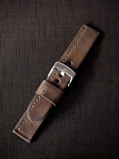 """Bas and Lokes Leather Goods - """"Jack"""" Brown Handmade Leather Watch Strap, $140.00 (http://www.basandlokes.com/jack-brown-handmade-leather-watch-strap/?page_context=category"""