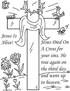 Free Printable Cross Coloring Pages | Pinterest | Easter, Ornament ...