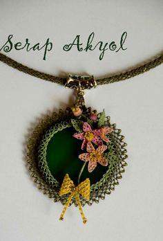 # necklace # needlelace # needle # jewelry # needlework - My Recommendations Lace Necklace, Lace Jewelry, Jewellery, Seed Bead Flowers, Beaded Flowers, Brooches Handmade, Handmade Necklaces, Point Lace, Needle Lace