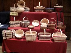 Shown and Tell Display by Pattie Bagley's Basket Class at the John C. Campbell Folk School | folkschool.org