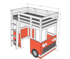 Ana White   Build a Surf Bus or Van Loft Bed   Free and Easy DIY Project and Furniture Plans