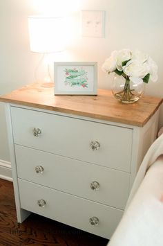 IKEA Rast Hack Media Friendly Nightstand | inbetweenchaos.com