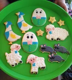 Nursery rhyme baby shower cookies