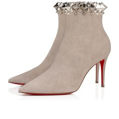 Christian Louboutin United States Official Online Boutique - FIRMAMMA 85 Fume/Silver Suede available online. Discover more Women Shoes by Christian Louboutin Louboutin Online, New Chic, Red Sole, Designer Heels, Christian Louboutin Shoes, Suede Heels, Shoe Boots, Ankle Boots, Designing Women