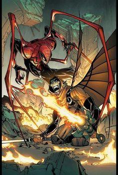 Marvel Comics, Hq Marvel, Marvel Now, Marvel Heroes, Captain Marvel, Amazing Spiderman, Spiderman Noir, Spiderman Art, The Superior Spider Man