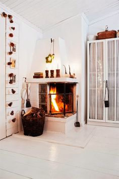 A cosy Swedish cottage ready for Christmas
