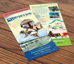 River's End Campground Rack Card Design, Rack Card for RV Resort