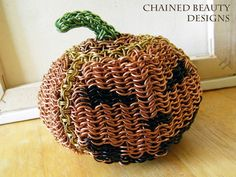 Chainmaille Jack-O-Lantern by ~ChainedBeauty on deviantART
