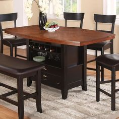 Found it at Wayfair - Wachusett Counter Height Dining Table Bar Height Dining Table, Dining Table With Storage, Dining Table In Kitchen, Dining Area, Dining Sets, Dining Rooms, Table Bench, Dining Chairs, Contemporary Dining Table