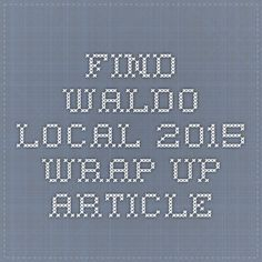 ABA's Find Waldo Local 2015 Wrap-up article, featuring an interview with The Book Nook in Brenham, TX