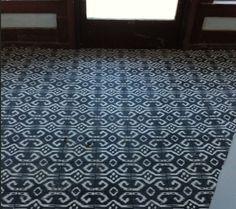 ikat floor tiles