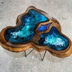 amazing resin wood table for your home furniture - DIY - Furniture: amazing resin wood table for your home furniture - Resin Furniture, Log Furniture, Furniture Layout, Unique Furniture, Furniture Makeover, Furniture Design, Bedroom Furniture, Furniture Stores, Furniture Ideas