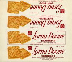 Nabisco - Lorna Doone Shortbread cookie - paper box wrap - 1930's 1940's by JasonLiebig, via Flickr