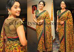 Saree Blouse Patterns: Georgette saree