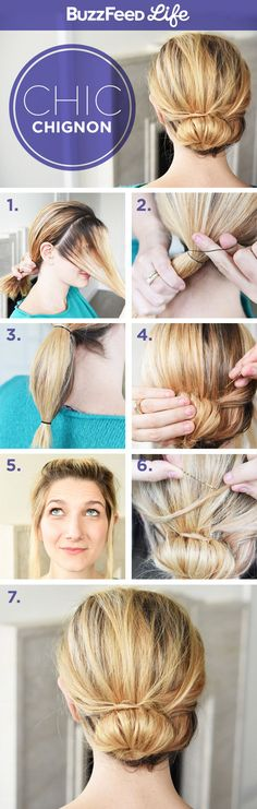 Chic Chignon   26 Incredible Hairstyles You Can Learn In 10 Steps Or Less