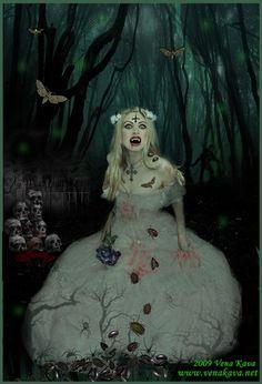 Gothic Art Print Vampire Halloween horror Fine by MorbidObsession, $20.00