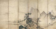 Landscape after Xia Gui - Attributed to Tenshō Shūbun - Muromachi period Zen Painting, Chinese Painting, Chinese Art, Japanese Landscape, Japanese Art, Landscape Paintings, Watercolor Paintings, Asian Wallpaper, Japanese Screen