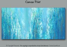 Abstract canvas art print for gray, turquoise and teal home or office decor. Artist: Denise Cunniff - ArtFromDenise.com. View more info at https://www.etsy.com/listing/252347713