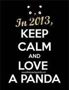 Pandas r cute, keep calm and luv em