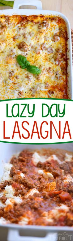 This Lazy Day Lasagna recipe is perfect for busy weeknights! A couple of tricks . This Lazy Day Lasagna recipe is perfect for busy weeknights! A couple of tricks and a super simple recipe yields sensational results! Try it tonight! Easy Lasagna Recipe, Homemade Lasagna, Lasagna Recipes, Ground Beef Lasagna Recipe, Italian Recipes, Beef Recipes, Cooking Recipes, Pasta Recipes, Recipies