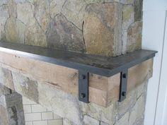 Heavy Blackened steel mantel plate w/ straps by Werken Design, via Flickr