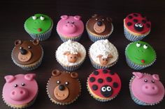 24 new ideas cupcakes versieren kids Fondant Cupcakes, Cupcakes Amor, Baking Cupcakes, Fun Cupcakes, Cupcake Cookies, Cupcake Toppers, Cool Wedding Cakes, Wedding Cake Toppers, Childrens Cupcakes