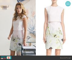 Anezka's white floral dress on Jane the Virgin.  Outfit Details: https://wornontv.net/61225/ #JanetheVirgin