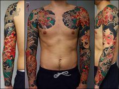 tattoo sleeve japanese style | Slava Starkov