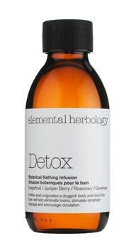 The World's Most Relaxing Bath: Elemental Herbology oil. The blend of rosemary, geranium and grapefruit oils up circulation; jojoba, sweet almond and peach kernel oils soften. And the scent is incredibly soothing.