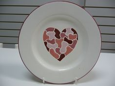 A beautiful hand painted plate which is a perfect Valentine's day gift