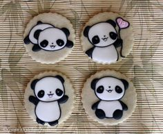 Birthday Pandas by Gwen's Kitchen Creations