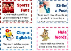 16 cards with different voices to use while reading.  Students can draw a card…