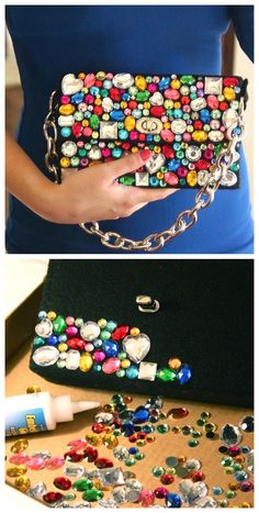 Bling purse recycled: