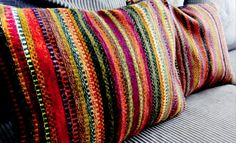 Striped Colorful Hand Woven Pillows by Native Trade - contemporary - pillows - orange county - Cole Barnett Interiors