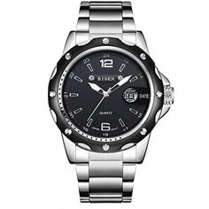 Skone Auto Date Silver Watches Men Luxury Brand Steel Band Quartz Movt Fashion Casual Business Watch Male relogios masculinos Bracelet Or Rose, Bracelet Cuir, Sport Watches, Watches For Men, Wrist Watches, Men's Watches, Silver Watches, Style Simple, Shabby Chic Baby Shower
