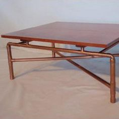 Industrial Copper Piping And Wood Furniture | Copper Pipe Creations |  Pinterest | Wood Furniture, Industrial And Woods